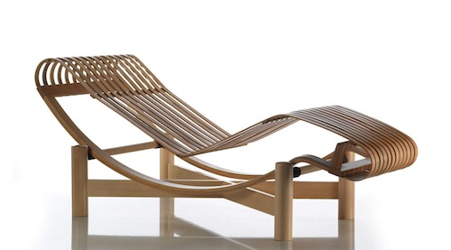 Contemporary lounge chair by Charlotte Perriand 522 Tokyo 3